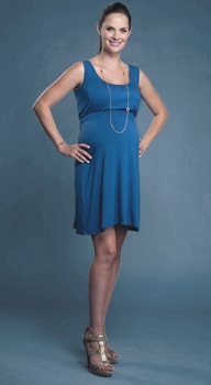 Mayreau Lucy Maternity/Nursing Dress - Navy Blue or Blueberry