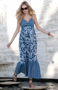 Seraphine Blue Bohemian Print Matilda Maternity Maxi Sundress<br><i>As seen on Alyson Hannigan</i>