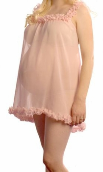 Sweet Dreams Peach Silk Maternity Babydoll<br>(S, M, L)