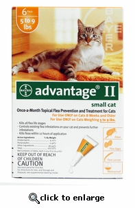 12 MONTH Advantage II Flea Control for Cats Under 9 lbs