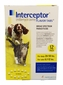 12-MONTH Interceptor Yellow for dogs 26 - 50 lbs. and cats