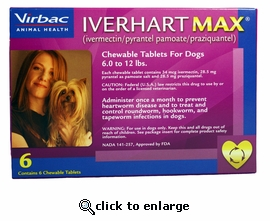 12 MONTH Iverhart Max 6-12 lbs