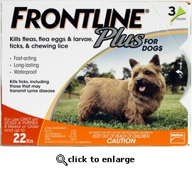 3 month Frontline PLUS for Dogs Up to 22lbs