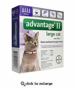 4 MONTH Advantage II Flea Control for Cats Over 9 lbs