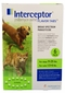 6 MONTH Interceptor Green for dogs 11- 25 lbs. and cats