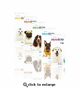 Bravecto 112.5 mg for dogs 4.4-9.9 lbs 3 TABLETS