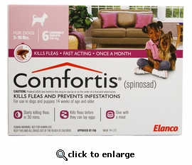 Comfortis 140mg for Cats 4.1-6 lbs & Dogs 5-10 lbs 6 PACK