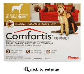 Comfortis 1620mg for Dogs 60-120 lbs 6 PACK