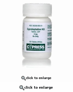 Cyproheptadine 4mg (per tablet)