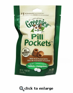 Greenies Pill Pockets Peanut Butter (3.2oz) Tablet 30ct