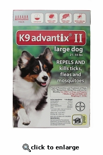 K9 ADVANTIX II Red for dogs 21-55 lbs 12 Pack