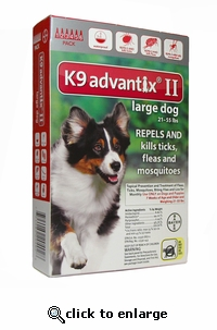 K9 ADVANTIX II Red for dogs 21-55 lbs 6 Pack