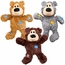 Kong Wild Knots Squeaker Bears for Dogs Small/Medium (Colors Vary)