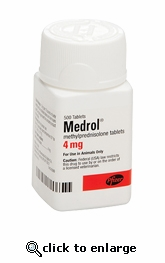 Medrol (methylprednisolone) 4 mg per tablet