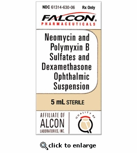Neomycin, Polymyxin B Sulfates and Dexamethasone Ophthalmic Suspension 5 mL