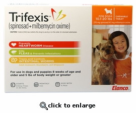 Trifexis 10.1-20lbs 1 month (1 tablet)