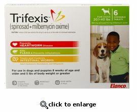 Trifexis 20.1-40lbs 560mg 6 month