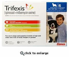 Trifexis 40.1-60lbs 810mg 6 month