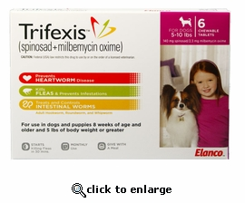 Trifexis 5-10lbs 140mg 6 month