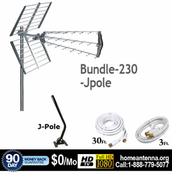 HD-230A Outdoor HDTV Antenna with J-Pole Package