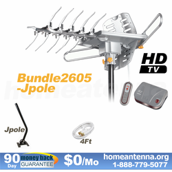 HD-2605 Ultra 4K Ready Outdoor TV Antenna with J-Pole Bundle Package