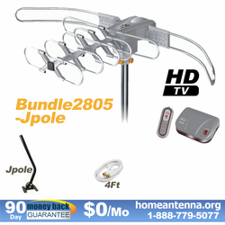 HD-2805 Ultra Outdoor TV Antenna with J-Pole Bundle Package