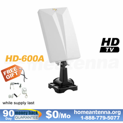 Pre-amplified TV Antenna - Indoor and Outdoor Use - LAVA HD-600A