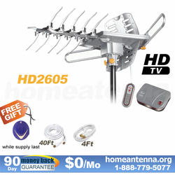 LAVA HD-2605 Ultra HD TV Antenna with G3 Control Box Remote Controlled
