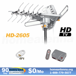 Top Rated Pre-amplified Outdoor TV Antenna with motor rotor on SALE