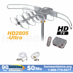 LAVA HD-2805 Ultra HDTV Antenna with G3 Control Box Remote Controlled