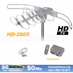 150 Mile Range LAVA HDTV Antenna with Remote Controlled HD-2805 Ultra