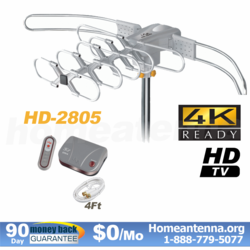 150 Mile Range LAVA 4K HDTV Antenna with Remote Controlled HD-2805 Ultra