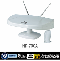 LAVA HD-700A Indoor/Outdoor HDTV UHF/VHF/FM Antenna Digital & Analog TV Reception