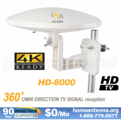 360 Degree 4k Omnidirectional TV Antenna OmniPro HD-8000