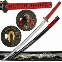 Bushido Blood Dragon Katana Samurai Sword - Ships Free!