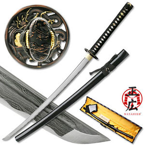 Damascus Sword of the Serpent Katana - Ships Free!