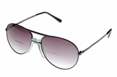 Aviator Bifocal Sunglass Reader with Comfortable Nose Piece
