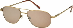Aviator Bifocal Sunglasses With Brown-Tinted Lenses