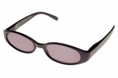 Black Oval-Framed Full Reading Lens Sunglasses