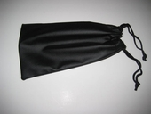 Black Soft  Drawstring Case