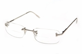 Contemporary Rimless Clear Bifocal