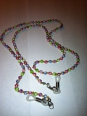 Eyeglass Chain with Small Pastel Beads