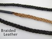 Flat Braided Leather Eyeglass Leash