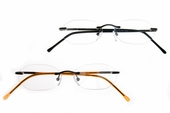 Oval Rimless Clear Full Reader