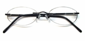 Rimless Oval Light-Weight Clear Reader