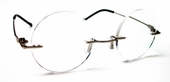 Rimless Round Clear Reader