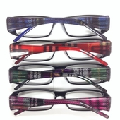 Steph Plaid Clear Reader