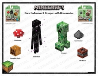 Minecraft Asst figures & Plush
