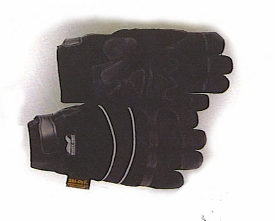 "2145-BKH  ""WINTER HAWK""   ""HEATLOK"" THERMAL INSULATED & ""SKI-DRI"" WATERPROOF LINED- ARMOR SKIN SYNTHETIC LEATHER MECHANICS GLOVES W/VELCRO WRIST CLOSURE"