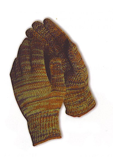 Knitting Pattern For Hunting Mittens : heavy weight string knit reversible gloves w/pvc dots.